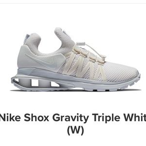 Nike Shox Gravity Triple White Sneaker